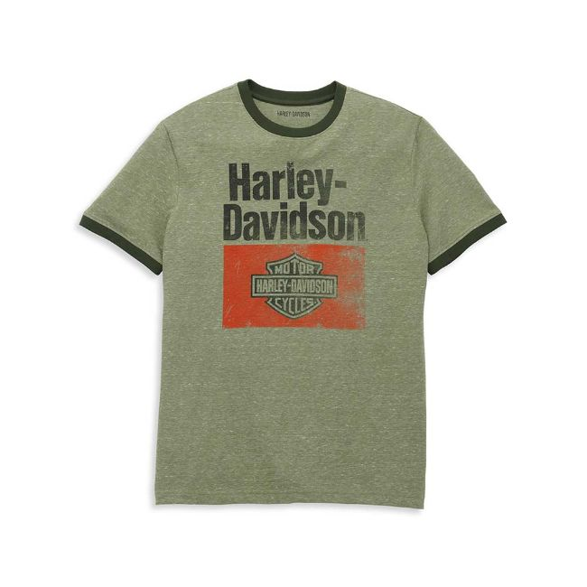 Picture of Men's Heritage Sign Graphic Novelty Ringer Tee