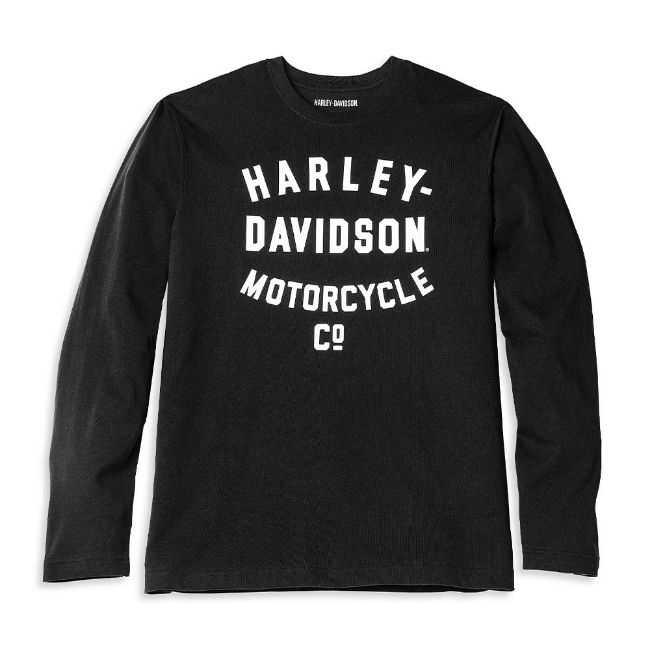 Picture of Men's Racer Font Motorcycle Co. Long Sleeve Graphic Tee