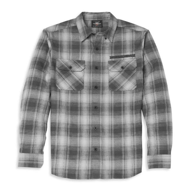 Picture of Men's Willie G Skull Plaid Flannel Shirt
