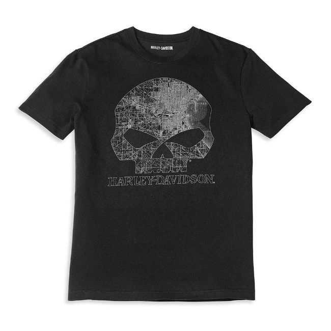 Picture of Men's Milwaukee Map Skull Graphic Tee