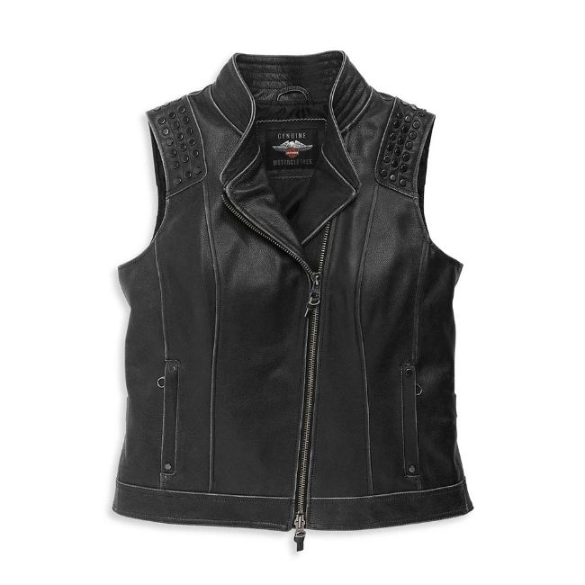 Picture of Women's Electra Studded Leather Vest