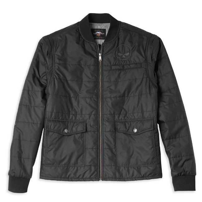 Picture of Men's Convertible Quilted Jacket with Removable Sleeves