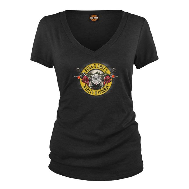 Picture of Women's Guns N' Roses Cover Motorcycle Short Sleeve Tee