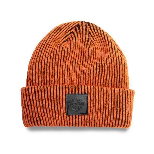 Picture of Bar & Shield Turned Back Cuff Knit Cap