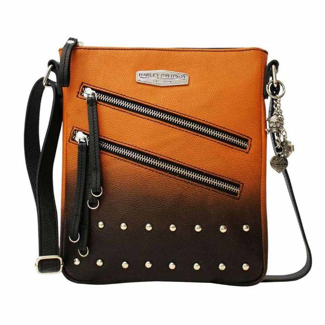 Picture of Ombre Leather Vertical Crossbody Purse